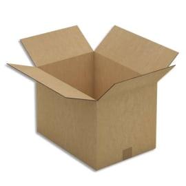 Paquet de 10 caisses américaines double cannelure en kraft brun - Dimensions : 43 x 30 x 31 cm photo du produit