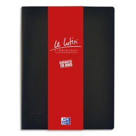 OXFORD Protège documents LUTIN ORIGINAL 40 vues, 20 pochettes. En PVC opaque. Format A4. Coloris Noir photo du produit