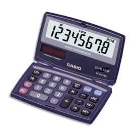 CASIO Calculatrice de poche pliable conversion euro SL100VER photo du produit