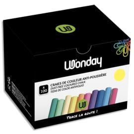 JPC Boîte de 100 craies anti-poussière coloris Jaune photo du produit
