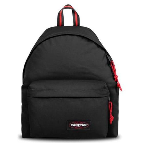 EASTPAK Sac à dos PADDED PAK 24 litres BLAKOUT SAILOR. Un compartiment. Coloris noir, détails rouge. photo du produit Principale L