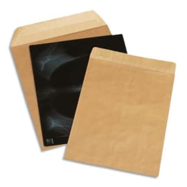 BONG Boîte de 100 pochettes kraft 90g pour radiographie non gommée format 380x450mm photo du produit