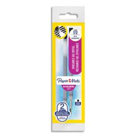 PAPERMATE Recharges pour stylo roller ERASABLE. Encre Noire. photo du produit
