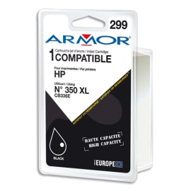ARMOR Cartouche compatible Jet d'encre Noir HP 350XL B20254R1 photo du produit