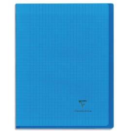 CLAIREFONTAINE Cahier KOVERBOOK piqûre 96 pages grands carreaux Séyès petit format 17x22. Couv polypro. photo du produit