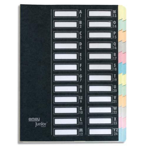 EMEY Trieur EMEY JUNIOR en carte, 24 compartiments. Coloris Noir. photo du produit Principale L
