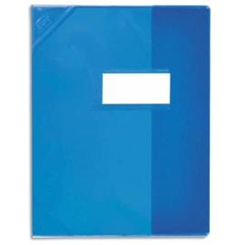 OXFORD Protège-cahier 21x29,7cm Strong Line cristal 15/100è + coins renforcés (30/100è). Coloris Bleu photo du produit