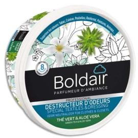BOLDAIR Pot 300g Gel déstructeur d'odeurs thé Vert et Aloe vera photo du produit