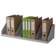 PAPERFLOW Trieur 9 cases fixes pour classeurs à levier standard - Dimensions L80,2 x H21 x P29 cm Gris photo du produit