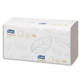 TORK Colis de 21 Paquets de 110 Essuie-mains Xpress interfoliés Doux Premium 2 plis plié en M 21,2x34 cm photo du produit