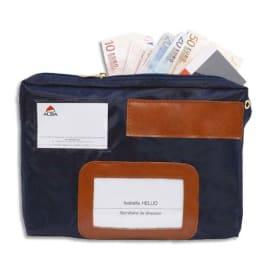 ALBA Pochette navette de caisse Bleue en PVC à soufflet dimensions : 27x18,5x4cm photo du produit