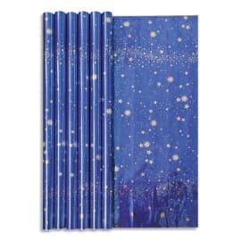 CLAIREFONTAINE Rouleau papier cadeau CIEL ETOILE 60g. Dimensions 1,5 x 0,70m. Coloris Bleu métal photo du produit