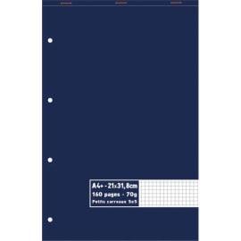 Bloc 70g agrafé en tête 160 pages perforées petits carreaux 5x5 maxi format A4+ 21 x 31,8 cm photo du produit
