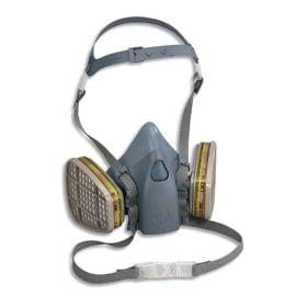 3M Demi masque en silicone texturé, fixation des filtres à baïonnette conforme Norme EN140 K7502 photo du produit