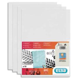 OXFORD Sachet de 10 pochettes-coin Fard'liss incolore en PVC lisse 20/100e. Format A4. Coloris incolore photo du produit