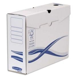 BANKERS BOX Lot 10 boîtes archives dos 10cm BASIQUE, montage manuel, carton recyclé. Sous film. photo du produit