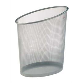 ALBA Corbeille à papier en métal Mesh argenté 18 litres - Dimensions : L35,5 x H39 x P20 cm photo du produit