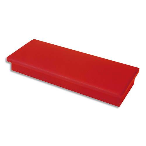 Plaquette de 2 aimants rectangulaires Rouge sans téton - Format : 2,3 x 5,5 cm photo du produit Principale L