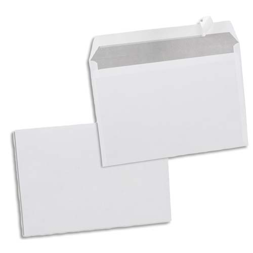 Boîte de 500 enveloppes Blanches 80g C5 162x229 mm auto-adhésives photo du produit Principale L