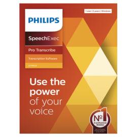 PHILIPS Logiciel SpeechExec Pro Transcribe 11 - clé de licence physique pour 2 ans LFH4522/00 photo du produit