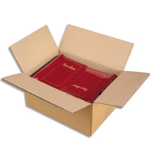 Paquet de 15 caisses américaines en carton brun double cannelure - Dim. : L40 x H27 x P30 cm photo du produit Principale L