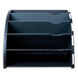 EXACOMPTA Trieur ergonomique 5 compartiments THE CORNER noir/gris souris photo du produit
