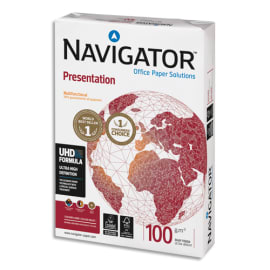SOPORCEL Ramette 500 feuilles papier extra Blanc Navigator Presentation A4 100G CIE 169 photo du produit