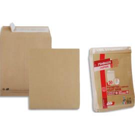 GPV paquet de 50 pochettes kraft brun auto-adhésif, format 24 260x330mm soufflet 30mm120g photo du produit