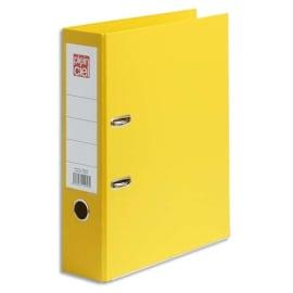 PLEIN CIEL Classeur à levier en polypropylène intérieur/extérieur. Dos 8 cm. Format A4. Coloris Jaune. photo du produit