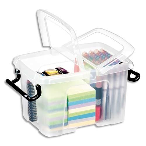 CEP Boîte de rangement Smart Box Strata avec couvercle clipsé dims int.15,7x22,1x15,5cm transparent 6L photo du produit Principale L