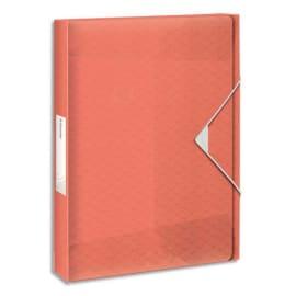 ESSELTE Boîte de classement Colour Ice dos de 2,5 cm, en polypropylène 7/10ème. Coloris Pêche photo du produit