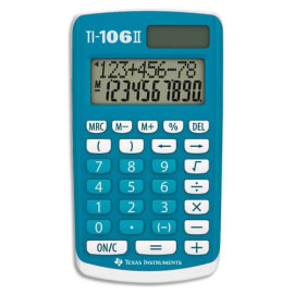 TEXAS INSTRUMENTS Calculatrice primaire TI-106II Bleue 106II/FBL/1E2 photo du produit