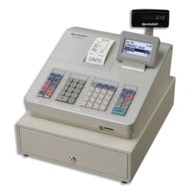 SHARP Caisse enregistreuse XE-A207 grand tiroir Blanche XE-A207WSF photo du produit