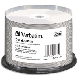 VERBATIM tour de 50 CDR imprimable, 52x 43745 photo du produit