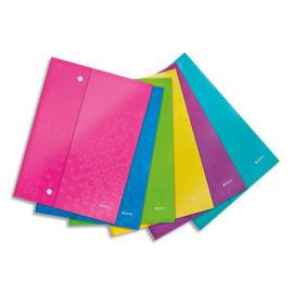 LEITZ Pochette enveloppe à double pression WOW PP opaque 2/10è, format A4, coloris assortis photo du produit