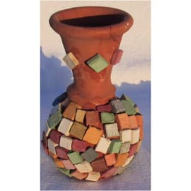 Pot de 1 kg de mosaïques antiques, 12 couleurs assorties, 1200 pièces environ de 1x1 cm photo du produit