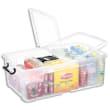 CEP Boîte de rangement Smart Box Strata avec couvercle clipsé dims int.36x59,1x21,6cm transparent 50L photo du produit