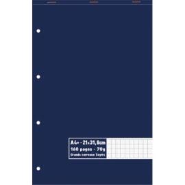 Bloc 70g agrafé en tête 160 pages perforées grands carreaux Séyès maxi format A4+ 21 x 31,8 cm photo du produit