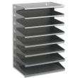 DURABLE Trieur horizontal 8 compartiments en acier epoxy. Pour doc A4+. L36 x H54 x P25 cm - Gris photo du produit