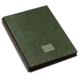 OXFORD Parapheur TOP FILE 24 positions en carte pelliculée. Dos à soufflets. Format A4. Coloris vert photo du produit