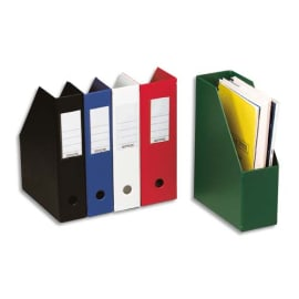 Porte-revues en PVC soudé dos de 7 cm. Format 32x24cm. Livré à plat. Coloris Blanc photo du produit
