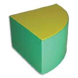 SUMO Pouf en mousse forme triangulaire 60x60x40cm Vert/ Jaune photo du produit