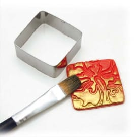 GRAINE CREATIVE Lot de 15 emporte-pièces métal 4+2,5+1,5cm, 4 formes : coeur,carré,triangle,rond,fleur photo du produit