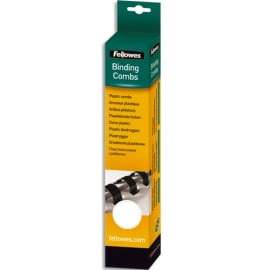FELLOWES Boîte de 50 peignes anneaux plastique 25 mm Blanc 5348204 photo du produit