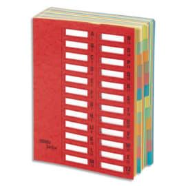 EMEY Trieur EMEY JUNIOR en carte, 24 compartiments. Coloris Rouge. photo du produit