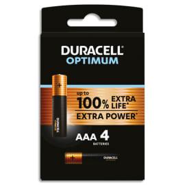 DURACELL Blister de 4 piles OPTIMUM AAA 5000394137516 photo du produit