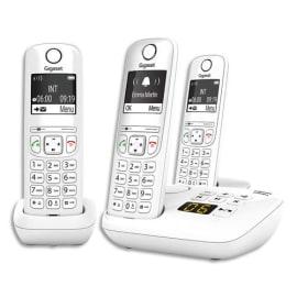 GIGASET Téléphone sans fil AS690A avec répondeur Trio Blanc AS690TRIOBLC photo du produit