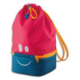 MAPED Sac à Déjeuner Concept enfants Rose, polyester, partie basse isotherme, yeux bouche réfléchissants photo du produit