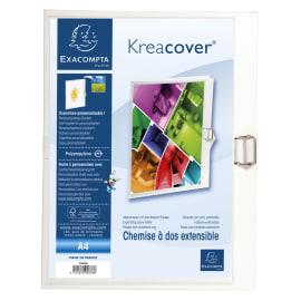 EXACOMPTA Chemise à dos extensible personnalisable dos 130mm coloris Blanc photo du produit