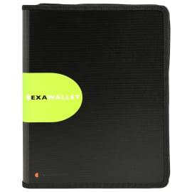 EXACOMPTA Porte documents conférencier Exawallet Noir, polypropylène 20/10e recyclé bloc ligné+calculette photo du produit